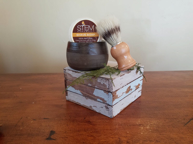 Shave Soap with Mug and Brush